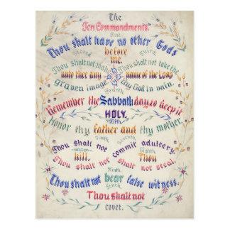 The Ten Commandments postcards