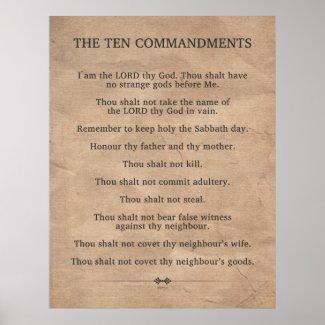 Christian Poster: The Ten Commandments