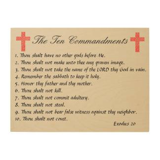 The Ten Commandments Wood Panel