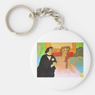 The tender question basic round button key ring