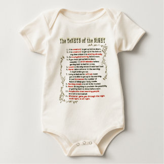 The Tenets of the Night Baby Bodysuit
