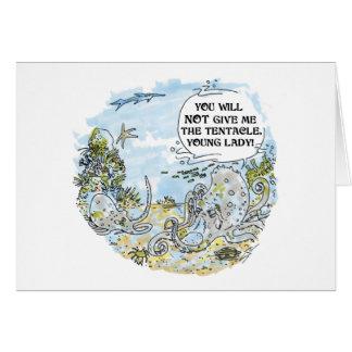 The Tentacle cartoon greeting card