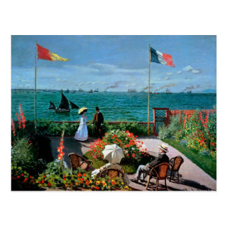 The Terrace at Sainte-Adresse 1867 Post Card