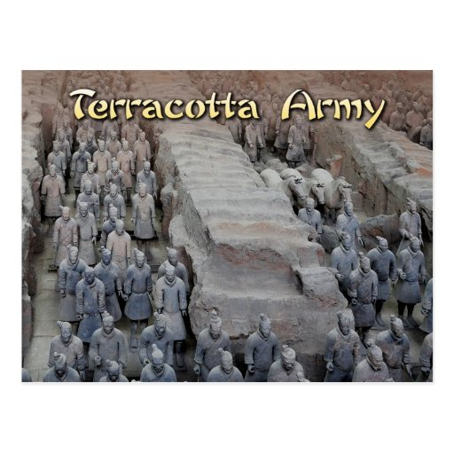 The Terracotta Army of the first Emperor of China Postcards