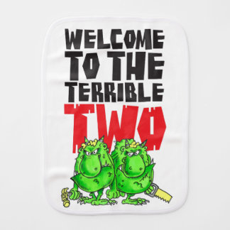 The Terrible Two Burp Cloth