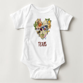 The Texas Baby One piece Baby Bodysuit