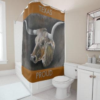 The Texas Longhorn Shower Curtain
