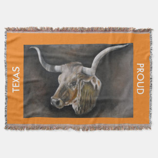 The Texas Longhorn Throw Blanket 2