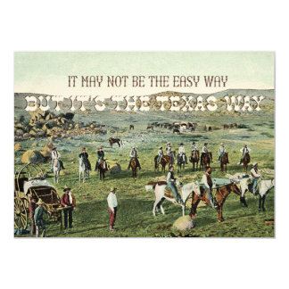 The Texas Way Vintage Art Card