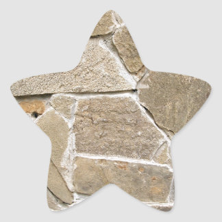 The texture of the walls of rough stones star sticker