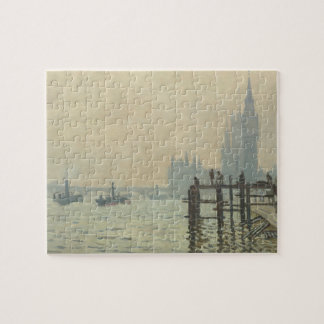 The Thames Below Westminster by Claude Monet Jigsaw Puzzle