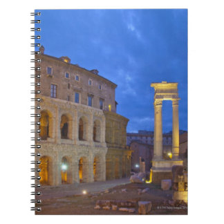 The Theater of Marcellus in Rome at night Spiral Notebook