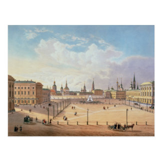 The Theatre Square in Moscow Postcard