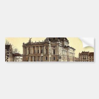 The theatre, Zurich, Switzerland classic Photochro Bumper Stickers