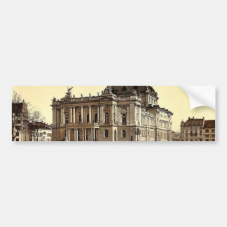 The theatre, Zurich, Switzerland classic Photochro Bumper Sticker