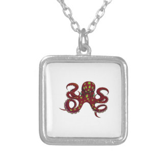 THE THENTACLES GRASP SILVER PLATED NECKLACE