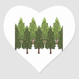 THE THICK FOREST HEART STICKER
