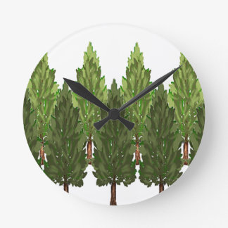 THE THICK FOREST ROUND CLOCK