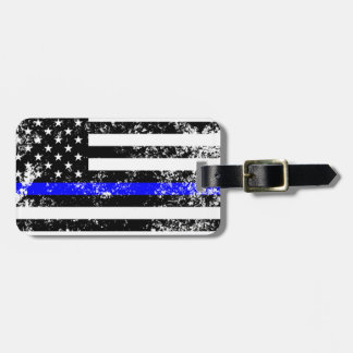 The Thin Blue Line Luggage Tag