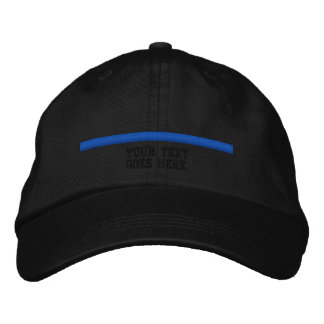 The Thin Blue Line Personalize This with text Embroidered Hats