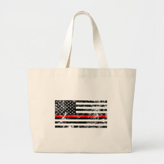 The Thin Red Line Large Tote Bag