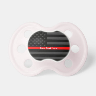The Thin Red Line Personalized on a Black US Flag Dummy