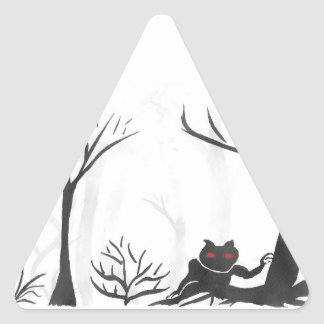 The Thing in the Forest Triangle Sticker