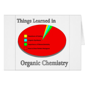 The Things I learned in Organic Chemistry Greeting Card