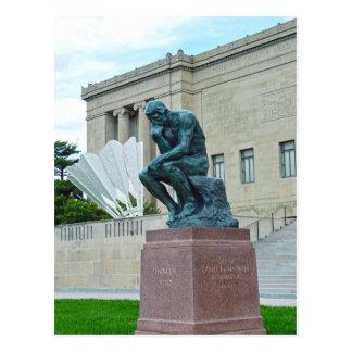 The Thinker and The Shuttlecock, Kansas City, Mo. Postcard