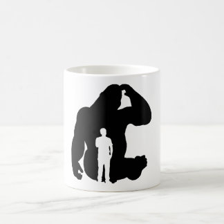 The Thinker -  Gorilla & Man Coffee Mug