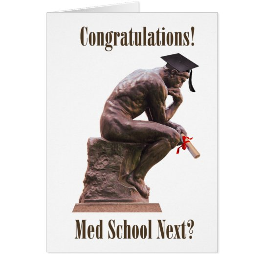 The Thinker Graduation Card