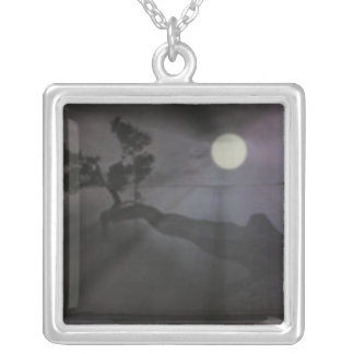 The Thinking Point Square Pendant Necklace