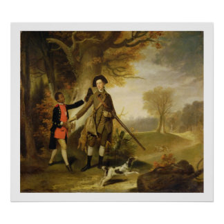 The Third Duke of Richmond (1735-1806) out Shootin Poster