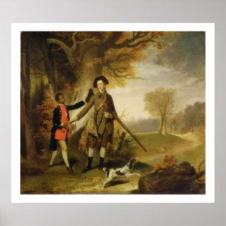 The Third Duke of Richmond (1735-1806) out Shootin Poster