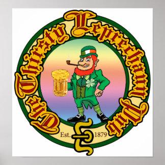 The Thirsty Leprechaun Pub Poster