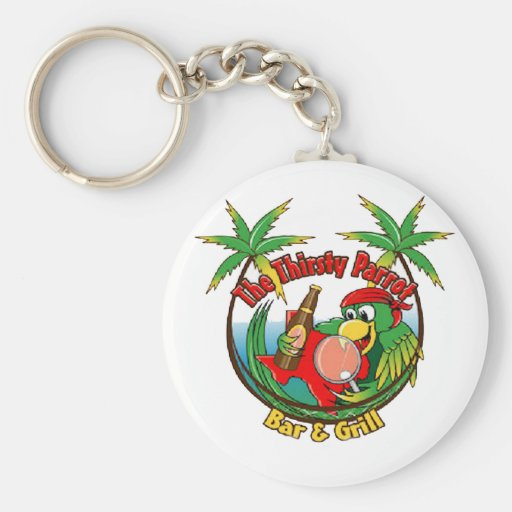 The Thirsty Parrot Bar & Grill Key Chain