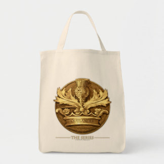 The Thistle of Scotland Emblem Grocery Tote Bag