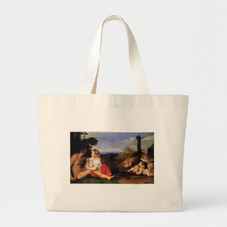 The Three Ages of Man by Titian Jumbo Tote Bag