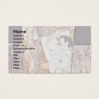 The Three Ages Of Woman By Klimt Gustav Business Card