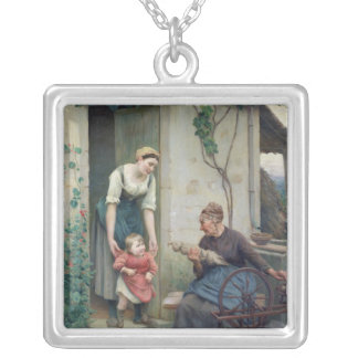 The Three Ages Silver Plated Necklace