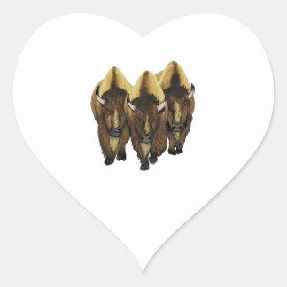 The Three Amigos Heart Sticker