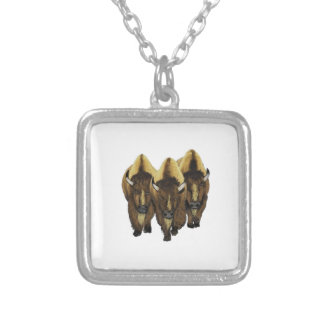 The Three Amigos Silver Plated Necklace