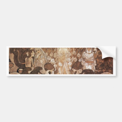 The Three Brides By Toorop Jan (Best Quality) Bumper Stickers