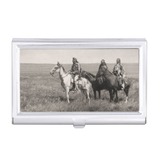 The Three Chiefs Piegan Vintage Native Americans Business Card Cases