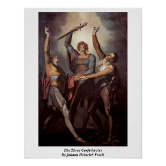 The Three Confederates By Johann Heinrich Fuseli Posters