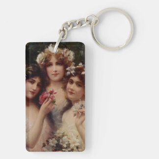 The Three Graces by Emile Vernon Key Ring