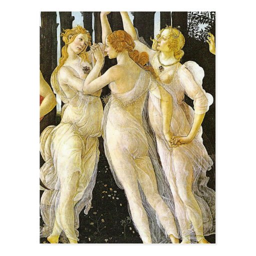 The Three Graces by Sandro Botticelli Postcards