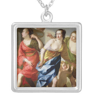 The Three Graces Silver Plated Necklace
