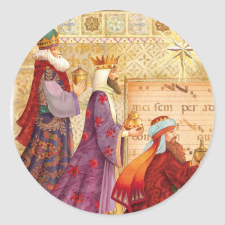 The Three kings Classic Round Sticker