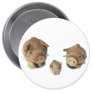 The Three Little Pigs Buttons